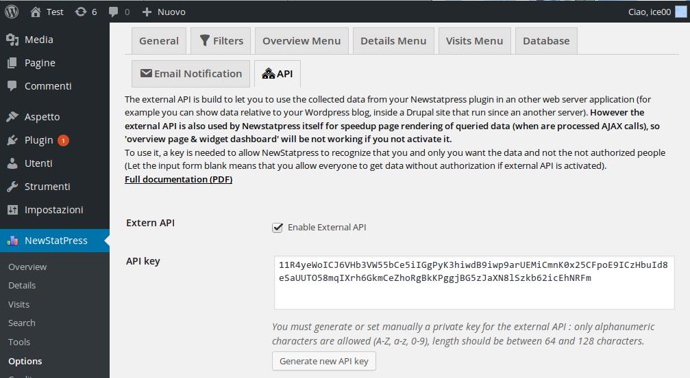 External API activation